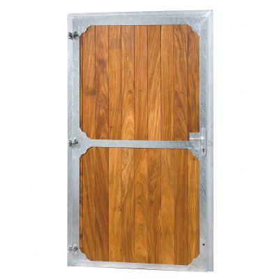 Staldeur 120 cm B X 220 cm H, volledig hout met drukslot