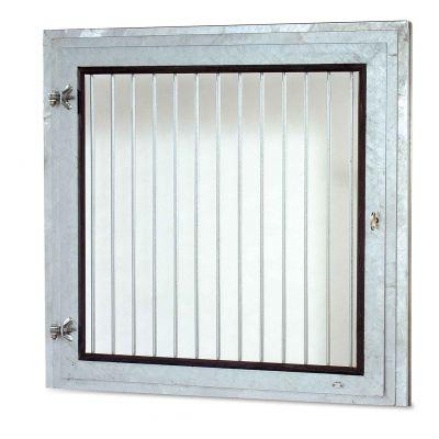 Draaivenster met binnentraliewerk 100 X 100 cm