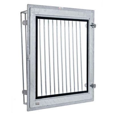 Draaikiepvenster met binnentraliewerk 100 X 100 cm