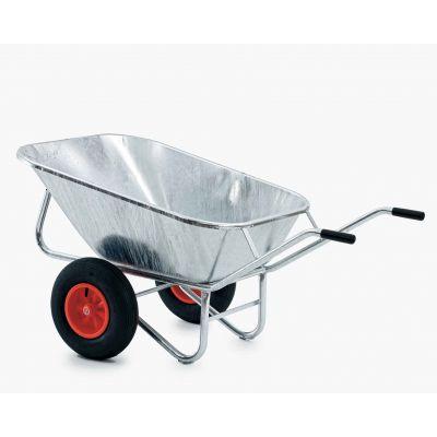 Growi tweewielige kruiwagen vuurverzinkt 200 liter