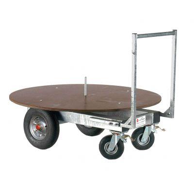 Growi ronde balen transportwagen