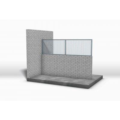 Opzettraliewerk voor stenen muur, 100 cm hoog