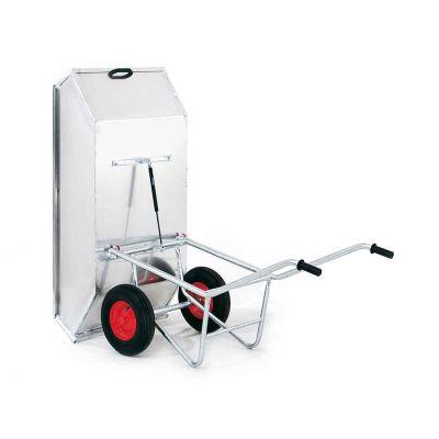 Growi Alustar kiepkruiwagen 450 liter met aluminium bak