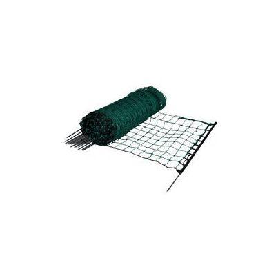 Konijnen-/hobbynet groen enkele pen 65 cm, 50 meter
