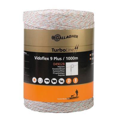 Vidoflex 9 TurboLine Plus schrikdraad 3 mm wit 1000m