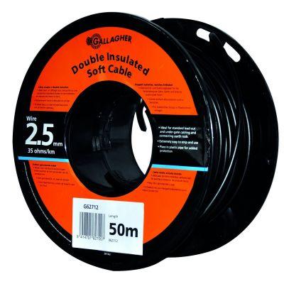 Gallagher grondkabel 2,5 mm dubbel geisoleerd voor afstanden  > 30m
