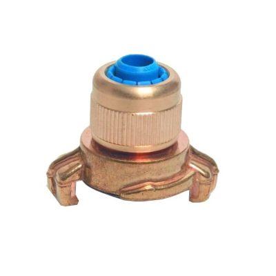 Messing snelkoppeling type GEKA met klemverbinding