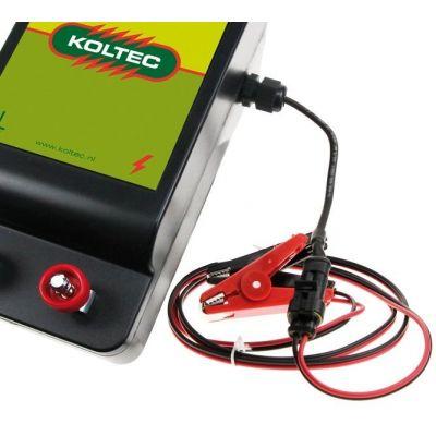 accu-aansluitkabel  met connector en aansluitklemmen voor Koltec Powergard, PG 50, PG100 en zonnepanelen