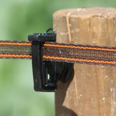 Koltec bruin/rood versterkt lint 20 mm 200 m