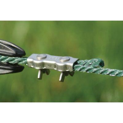 Verbinder voor koord en staaldraad, rvs/inox 4 stuks