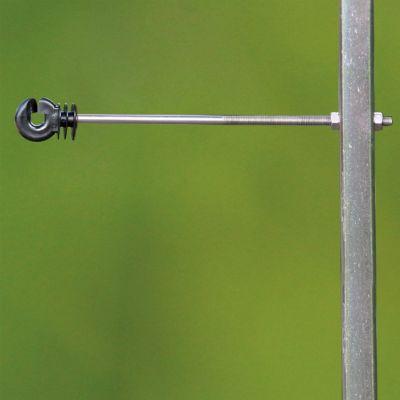 Koltec afstandisolator rvs/inox M6 draad voor metalen palen voor draad en koord, lengte 20 cm, 10 stuks