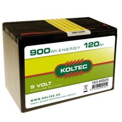 Koltec Batterij 9 Volt - 900 Wh 120 Ah, alkaline