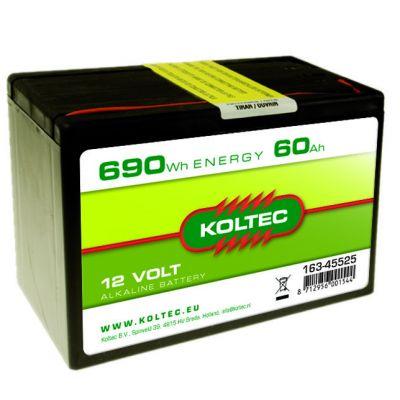 Koltec Batterij 12 Volt - 690 Wh 60 Ah, alkaline