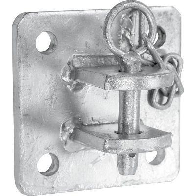 aanschroefdeel  /  wandbevestigingsbeugel voor GV hekwerk of voerhek zware uitvoering
