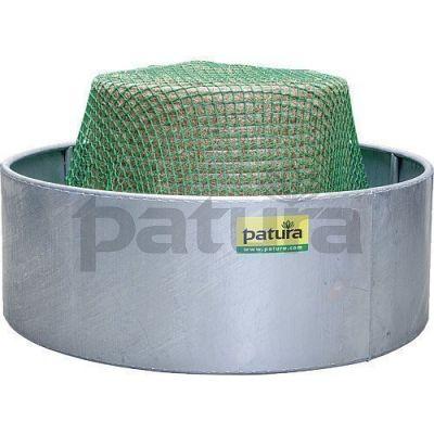 Slowfeeder hooinet 2,8 x 2,8 m voor ronde en vierkante weideruiven tot 210 cm voederrantsoennet