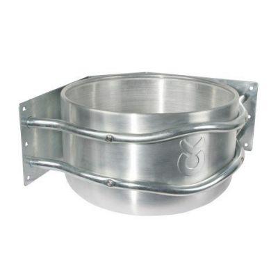 Aluminium voerbak rond met afvoer hoekmodel