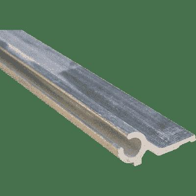 Aluminium kederprofiel / caravanrails zijgroef met vlag 7 mm  lengte 2 meter