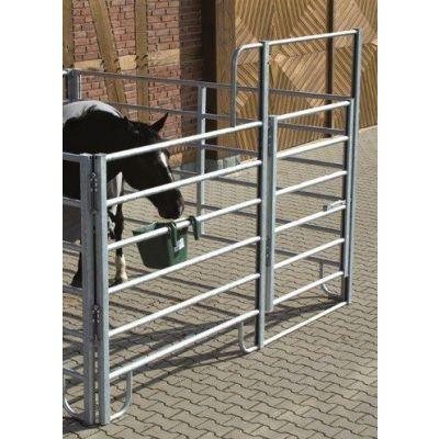 Growi hek CL paard uitschuifbaar 300 - 400 cm met poort