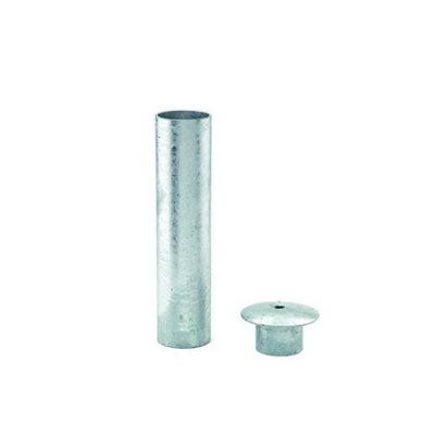Inbouwhuls voor bevestiging paal doorsnede 60 mm