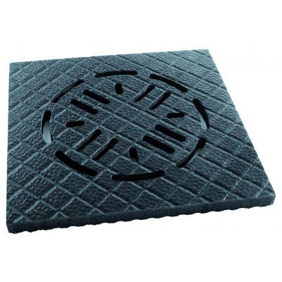 Rubberen Belmondo mat voor afvoerput 40 x 40 cm voor Walkpro
