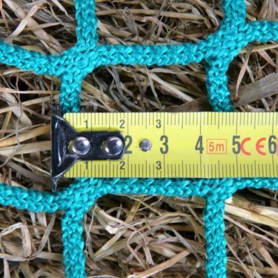 Slowfeeder hooinet  X-strong enkel 1,0 x 1,0 meter voor kist of hooiruif