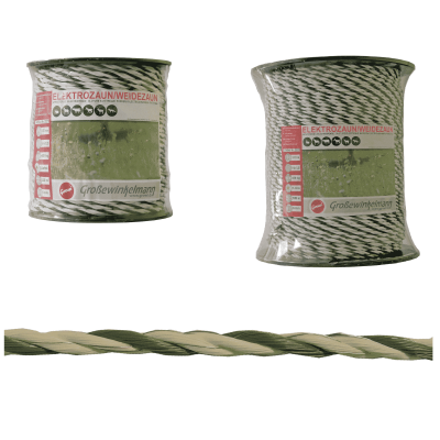 Growi Craftline koord wit /groen 6 mm