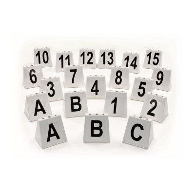 Hindernisnummerset stapelbaar, basisset nr 1-15, 2 x A, 2 x B, 1 x C