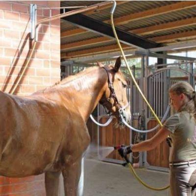 Paardendouche zwenkarm voor wasplaats