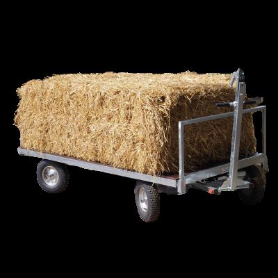 Plateauwagen met mee-sturende achteras