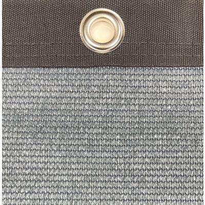 Windbreekgaas Pro Line donkergrijs met zwart polyester band en zeilogen