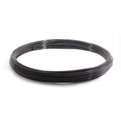 Spandraad zwart geplastificeerd, 2.5/3.8mm, 50meter