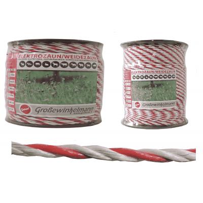 Growi Superline koord wit /rood 6 mm