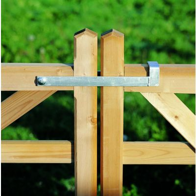 Valbeugel voor dubbele houten poort