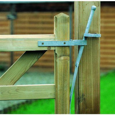 Veergrendel voor houten weidepoorten